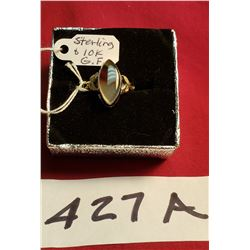 Sterling And Gold Filled Ring With Aget Stone 3GR