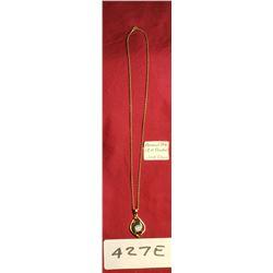18 K Ammolite Pendant 2GR And 10K Chain 1G