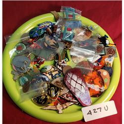 Tray Lot Of Enameled Costume Jewlery