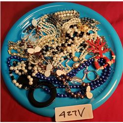Tray Lot Of Costume Necklaces