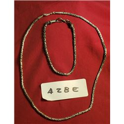 """Sterling Chain (18"""") And Bracelet (9"""")"""