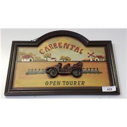 Carrental Wooden Sign