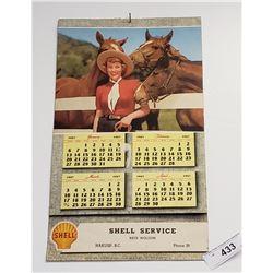 1957 Shell Calendar