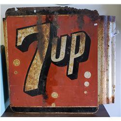 Tin 7up Sign