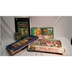 Lot Of 3 Misc Games And Doll House