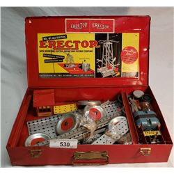 Erector Set In Original Metal Box
