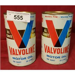 2 Valvoline Oil Cans