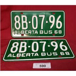 1968 Alberta Bus Plates