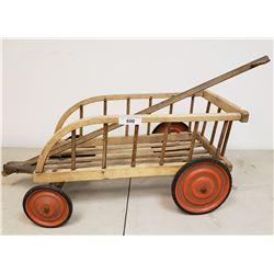 Vintage Childs Wooden Wagon