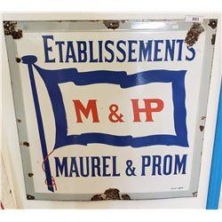 Vintage Marvel And Prom Porcelain Sign