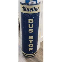 Blueline Bus Stop Sign