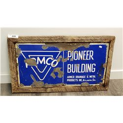 Armco Pioneer Building Supplies Sign Porcelain