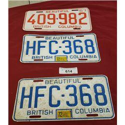 Misc. BC License Plates