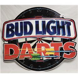 Metal Budlite Darts Sign