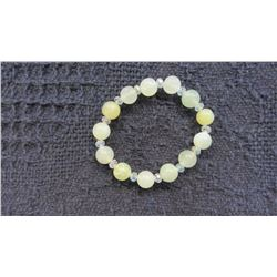 NEW JADE BEAD STRETCH BRACELET - CHOICE