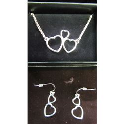 NEW TRI-HEART PENDANT AND EARRINGS