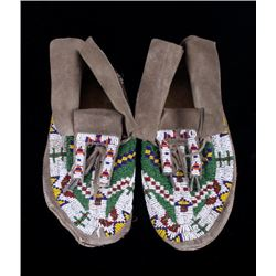 Gros Ventre Fully Beaded Moccasins circa 1900