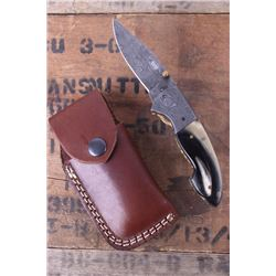 Montana Territory Knives Damascus Pocket Knife