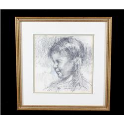 Original Signed Terry Mimnaugh Graphite Drawing