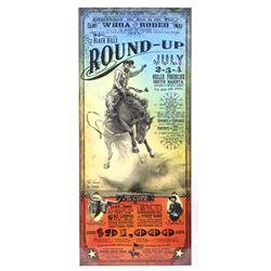 Black Hills South Dakota Round-up Rodeo Poster