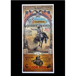 Buffalo Bill Cody Wyoming Stampede Poster