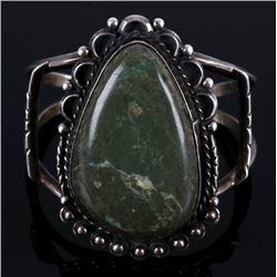 Navajo Cerrillos Turquoise Silver Bracelet