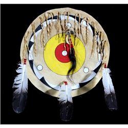 Blackfoot Polychrome Buffalo Rawhide Shield