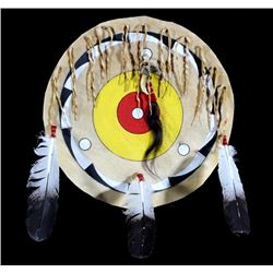 Blackfoot Polychrome Buffalo Rawhide Shield