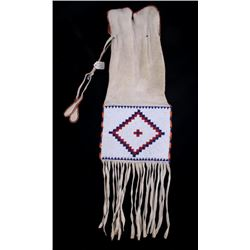 Sioux Beaded Pipe Tobacco Bag c. 1900-