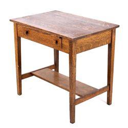 Mission Quarter Sawn Oak Writing Desk