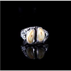 Navajo Sterling Silver Elk Ivory Ring