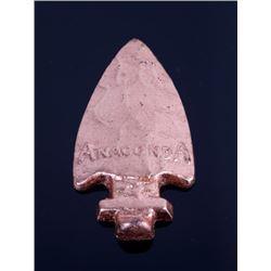 Anaconda Copper Mine Cast Copper Arrowhead