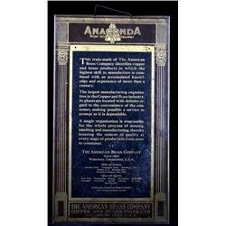 American Brass Co. Anaconda Metal Calendar Holder