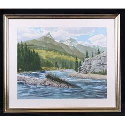 Scheppelman Watercolor of Pilot & Index Peaks