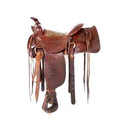 Early-Mid 1900s Montana Saddlery Marked 1420
