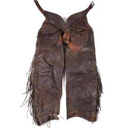 Early Montana Leather Shotgun Chaps 19th C.