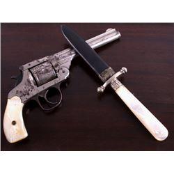Traveling-Desk Cased Forehand Co Revolver & Dagger