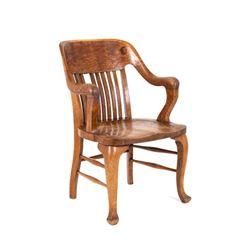 Early 1900 American Office Chair Quarter Sawn Oak