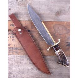 Montana Territory Knives Damascus Bowie Knife