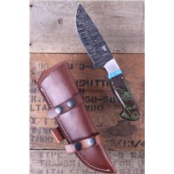 Montana Territory Knives Damascus Turquoise Knife