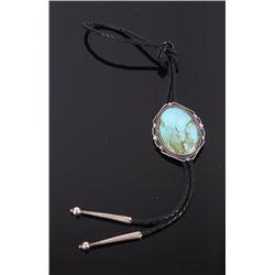 Navajo Cerrillos Turquoise Bolo Tie