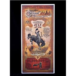 Cheyenne Wyoming Frontier Days Rodeo Poster