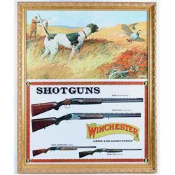 1970's Winchester Ferrara Hunting Scene Poster