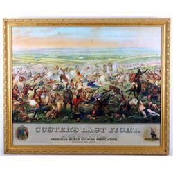Custer's Last Fight Anheuser Busch Framed Print