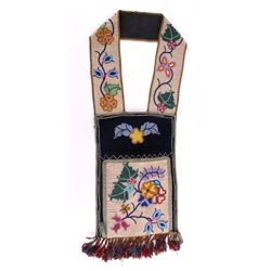 Montana Cree Fully Beaded Bandolier Bag c1870-1890