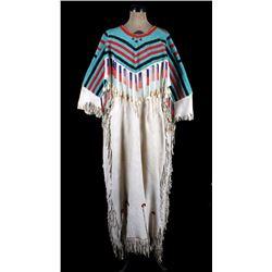 Lakota Sioux Beaded & Elk Ivory Dress c. 1890-1900