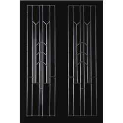 Lead Trimmed Custom Textured Stained Glass Panes