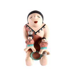 Jemez Pueblo Pottery Two Child Storyteller