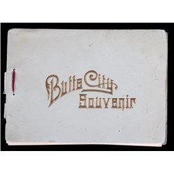 Butte Montana Souvenir Photo Book c. 1891