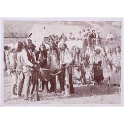 Lakota Sioux at Fort Meade Photograph 19th C.